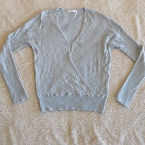Elodie   Crossover Cozy Sweater Modesty Clasp